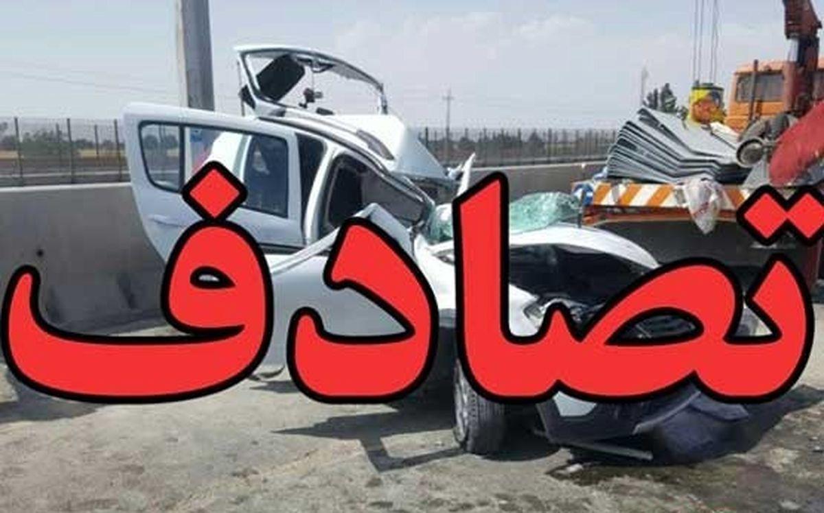 یک کشته و 3زخمی در تصادف 206با تیر برق