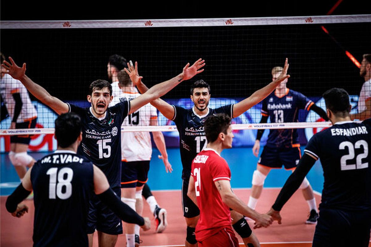 ایران در رده ششم لیگ ملت های والیبال قرار گرفت