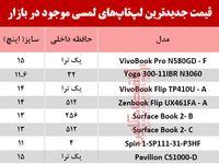 نرخ انواع لپ تاپ لمسی در بازار؟ +جدول