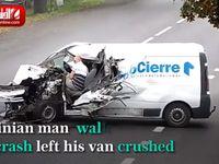 نجات معجزه آسای مردی از تصادف! +فیلم