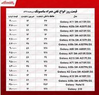قیمت موبایل سامسونگ در بازار +جدول