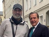 شوخی جالب حمید فرخنژاد با صدراعظم سابق آلمان +عکس