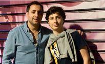 امیر حسین رستمی در کنار پسرش +عکس