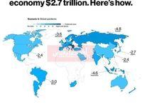ویروس کرونا چقدر تاوان اقتصادی خواهد داشت؟/ ضرر 2.7هزار میلیارد دلاری اقتصاد جهانی