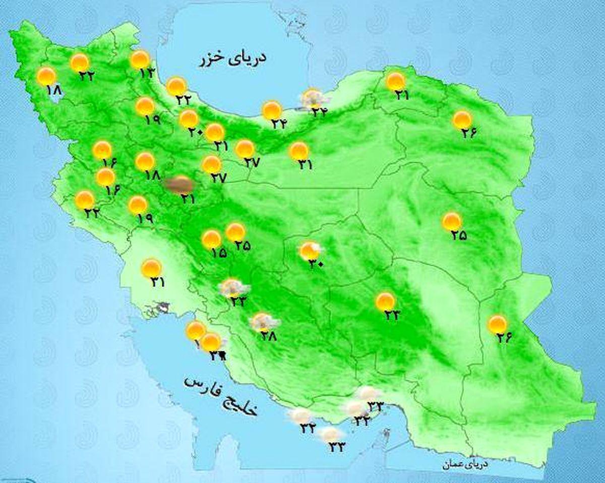پیشبینی بارش پراکنده در هفته آینده