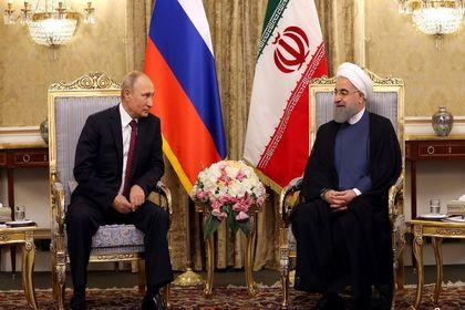 دیدار ولادیمیر پوتین با دکتر روحانی +عکس