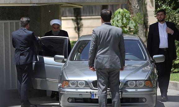 خودرو رییس جمهور در حاشیه جلسه هیات دولت +عکس