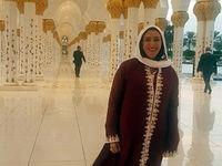 پوشش وزیر اسرائیلی در مسجد شیخ زاید +عکس