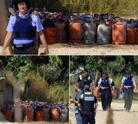 کشفیات پلیس از مخفیگاه تروریستها در بارسلون +عکس