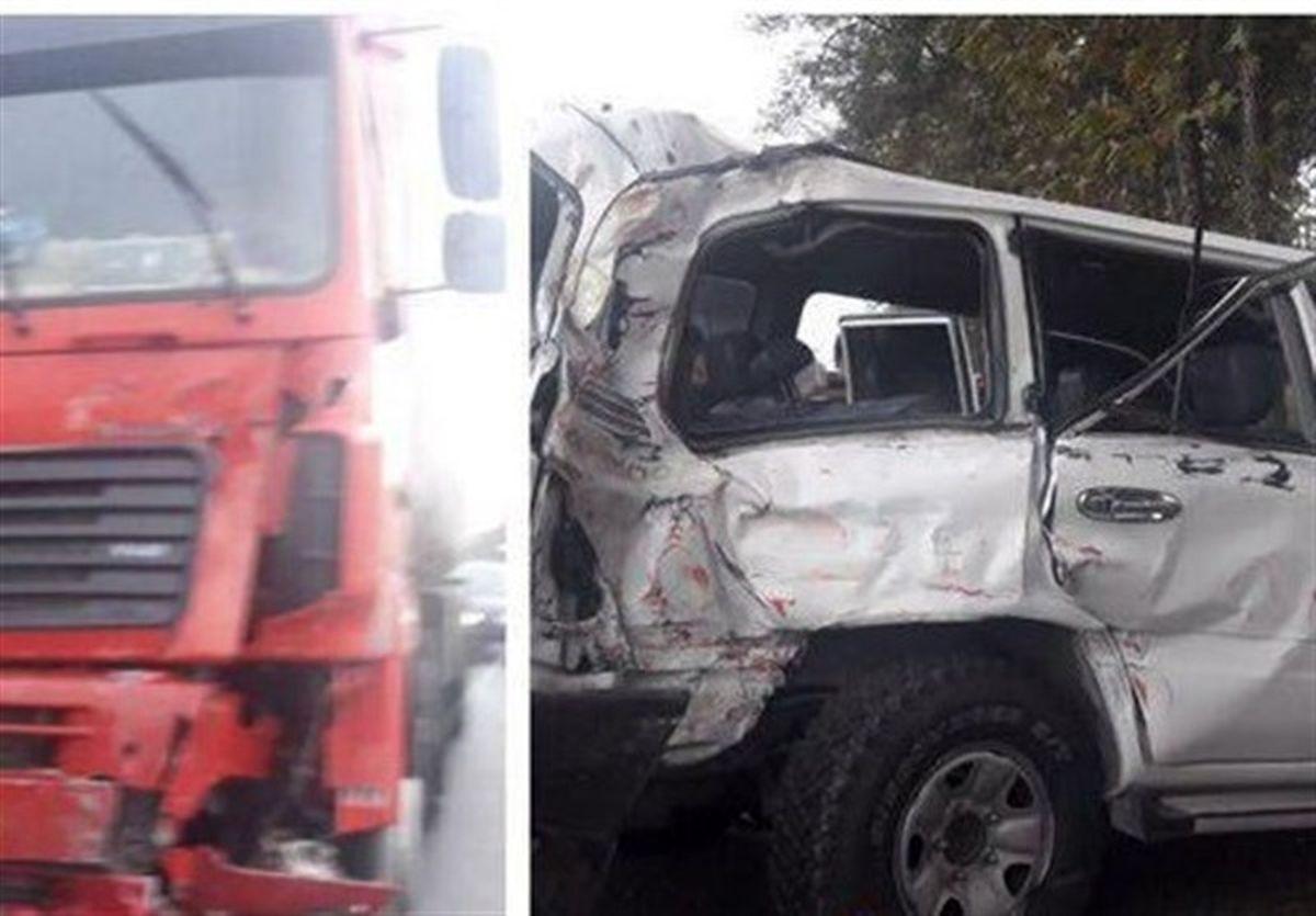 تصادف خودرو رییس سازمان تأمین اجتماعی در گرگان +عکس
