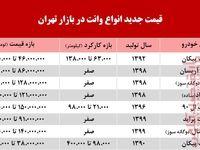 قیمت انواع وانت در بازار تهران +جدول