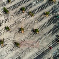 تنها خودرو جامانده در پارکینگ یک مرکز خرید در تگزاس +عکس