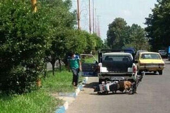 تصادف موتورسیکلت و مرگ راننده آن در تالش