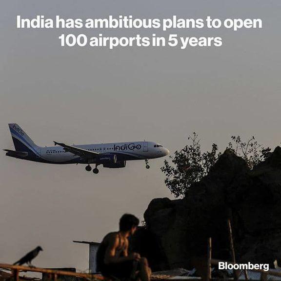 ساخت ۱۰۰فرودگاه جدید در هند هدفگذاری شد
