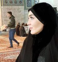حجاب خانم بازیگر در حرم امام رضا (ع) +عکس