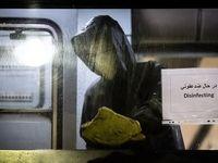 ضدعفونی واگنهای«مترو» و «بی آر تی» تهران +عکس