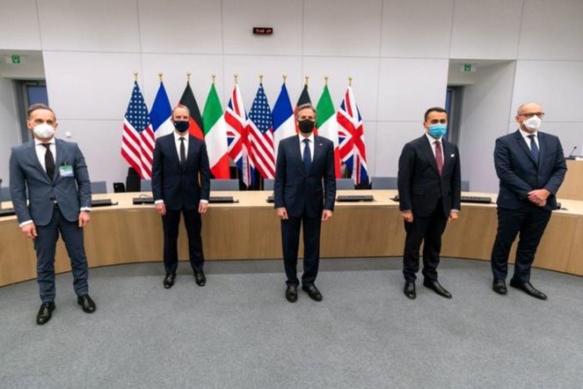 رایزنی وزرای خارجه آمریکا و کشورهای اروپایی درباره ایران
