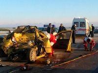 حادثه رانندگی در محور میانه - زنجان ۵کشته بر جای گذاشت