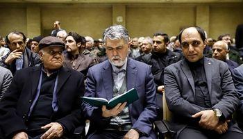وزیر ارشاد در مراسم ختم هنرمند فقید +عکس