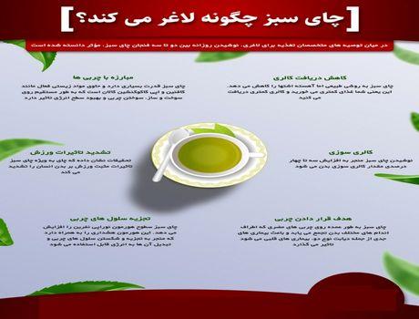 چای سبز چگونه لاغر میکند؟