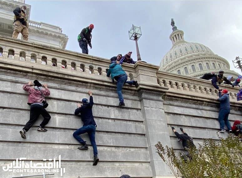 ورود هواداران ترامپ به کنگره