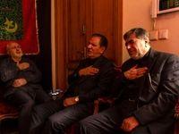 جهانگیری، ظریف و جنتی در مراسم عزاداری +عکس