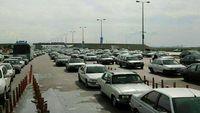 خروج وسایل نقلیه از استان تهران همچنان صعودی است