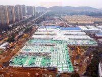 مراحل ساخت بیمارستان هزار تخت خوابی در چین +فیلم