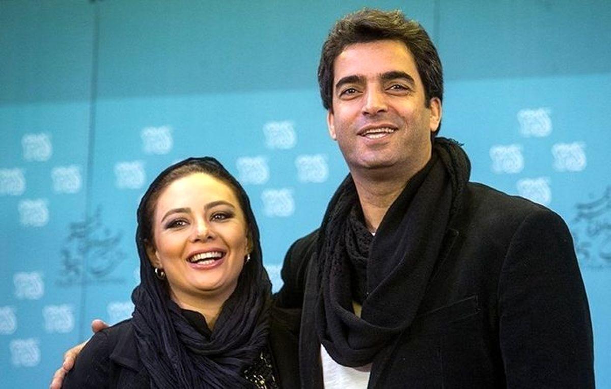 بوسه منوچهر هادی و یکتا ناصر +عکس