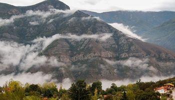 مِه در ارتفاعات چالوس +عکس