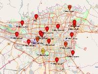 شاخص کیفیت هوای تهران در شامگاه چهارشنبه +نقشه