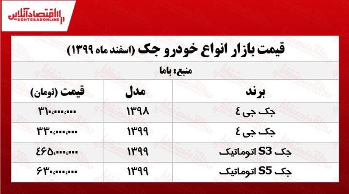 قیمت جدید جک در پایتخت +جدول