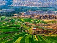 نمایی زیبا از مزارع سرسبز زنجان +عکس