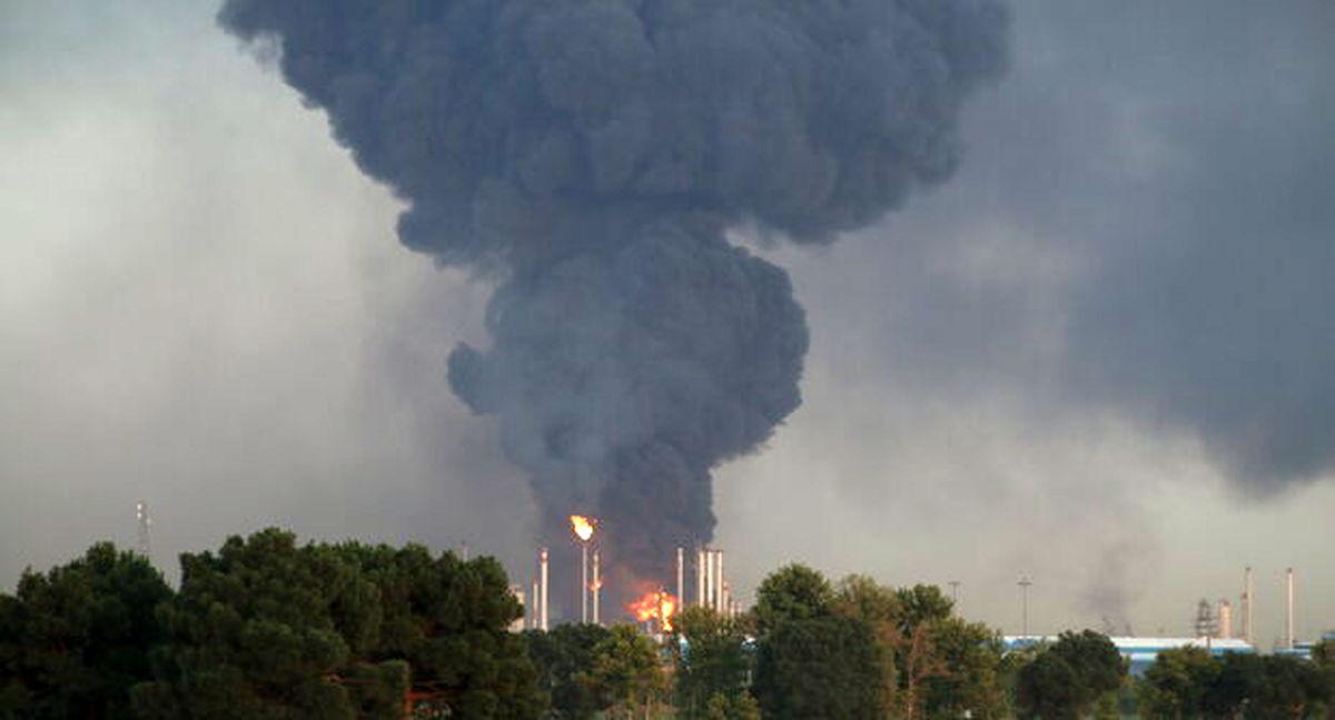 آتش در پالایشگاه تهران دوباره شعله ور شد + فیلم