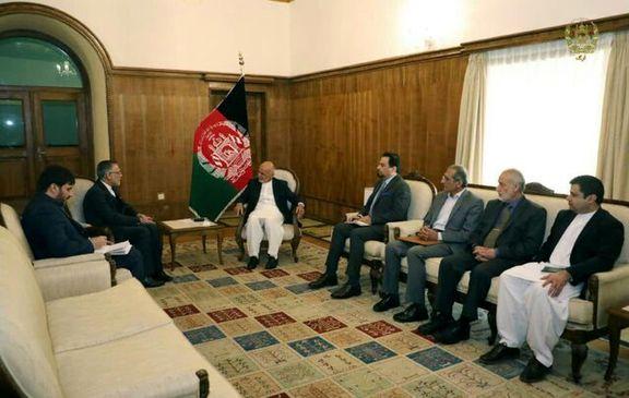 دیدار خداحافظی سفیر ایران با رییس جمهور افغانستان