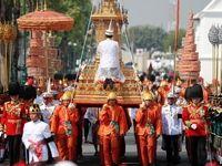 جنازه پادشاه تایلند پس از یک سال تشییع شد +تصاویر