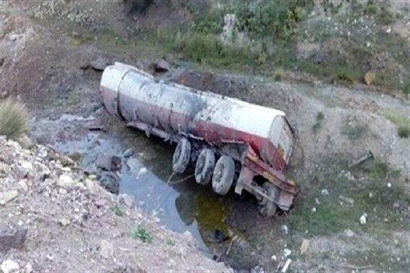 راننده،  تانکر سوخت را به کام مرگ کشاند