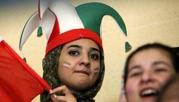 حضور بانوان در ورزشگاه در دیدار ایران و پرتغال +تصاویر