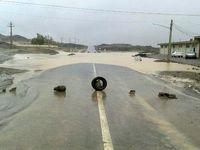 سیلاب ۳ مسیر در سیستان و بلوچستان را مسدود کرد +فیلم