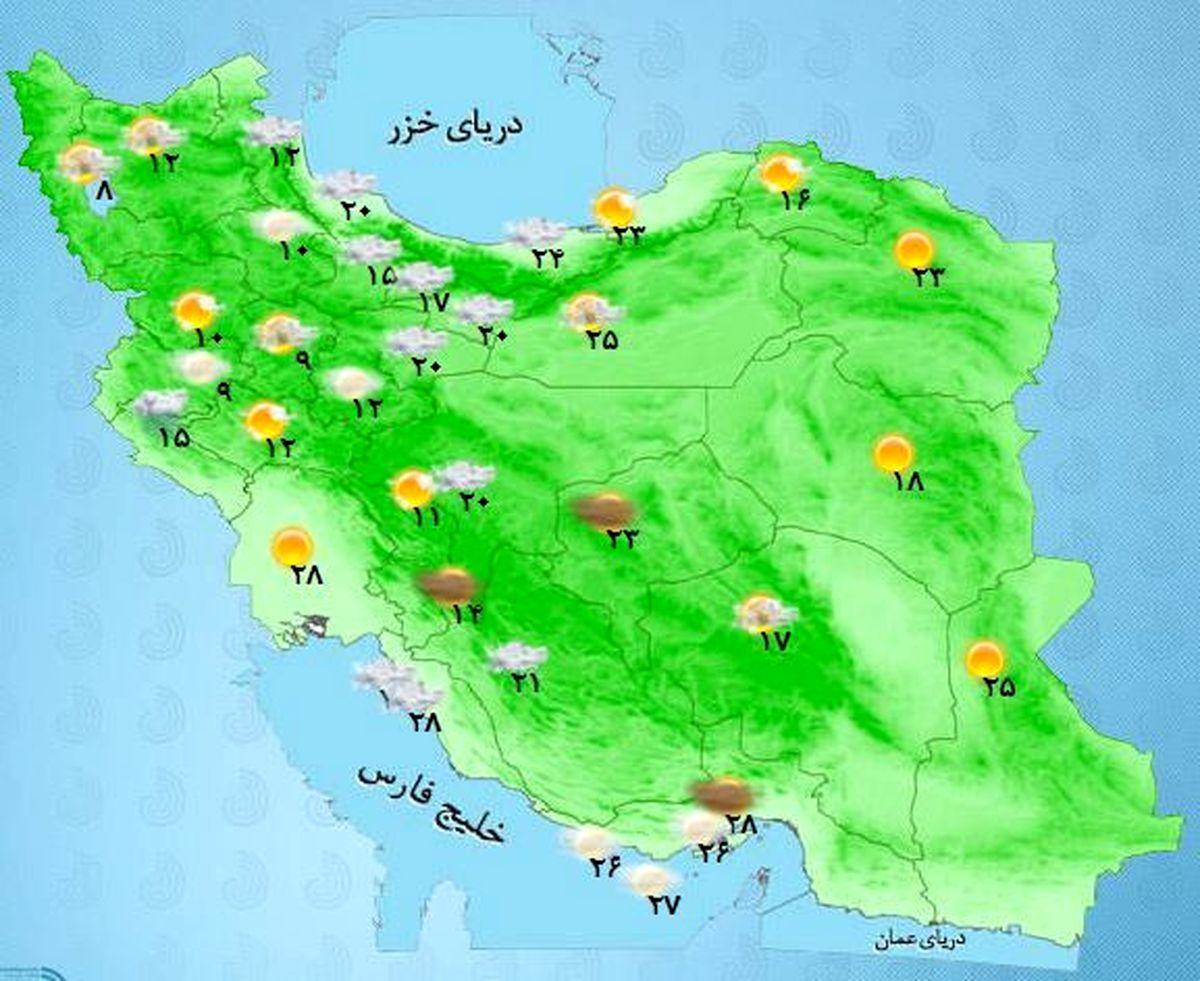 پیشبینی بارش باران و وزش شدید باد در بیشتر مناطق کشور