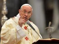 عصبانیت پاپ فرانسیس در مراسم شب سال نو +فیلم