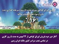 آغاز دور دوم فروش اوراق گواهی سپرده سرمایه گذاری بانک ایران زمین با نرخ ۱۶ درصد