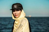 شیطونی یواشکی خانم بازیگر پشت صحنه یک فیلم +عکس