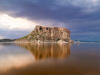 افزایش حجم آب دریاچه ارومیه +تصاویر