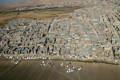 تصاویر هوایی از ویرانیهای زلزله در سرپلذهاب +عکس