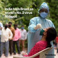 هند در آمار مبتلایان به کرونا از برزیل پیشی گرفت/ کسب جایگاه دوم با بیش از ۹۰هزار ابتلای جدید در یک روز