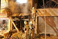 انفجار قلیانفروشی در خیابان ولیعصر +عکس