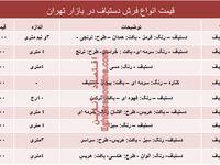 مظنه انواع فرش دستباف دربازار تهران؟ +جدول