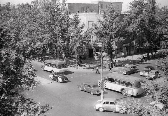 چهار راه ولیعصر تهران، 60 سال قبل! +عکس