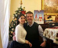 استراماچونی و همسرش در جشن کریسمس +عکس